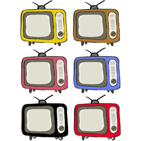 Retro colorful television vintage