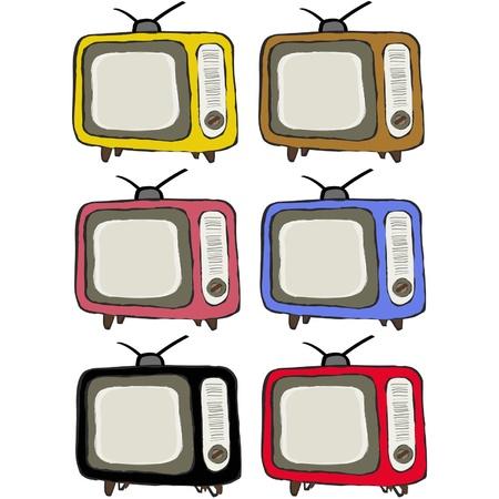 Retro colorful television vintage