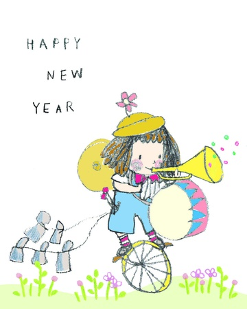 Happy New Year Party Music Illustration Royalty Free Cliparts ...