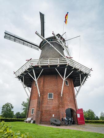 netherlands: Windmill in Dokkum, Netherlands Stock Photo