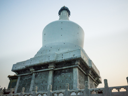 dalai: The White Pagoda is a stupa placed on the highest point of the Jade Flower Island (Qiong Hua Dao) to honour the visit of the 5th Dalai Lama. It is a tourist destination in Beijing.