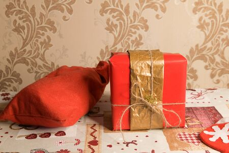 beautiful gift boxes for christmas. Beautifully packaged gift boxes. surprise under the tree.