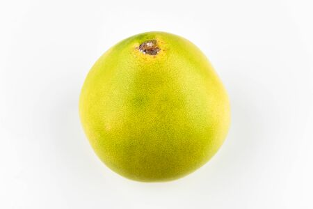 Pomelo on a white background. Place for an inscription. Easy cut. View from above