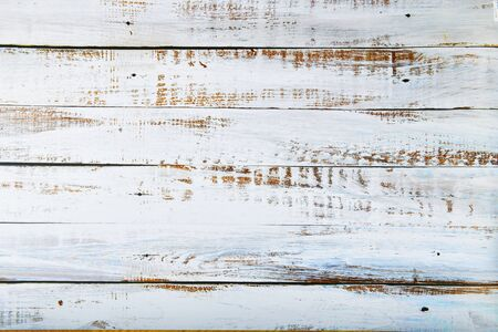 Old white boards for background. white rustic wood plank texture background. top view. 스톡 콘텐츠