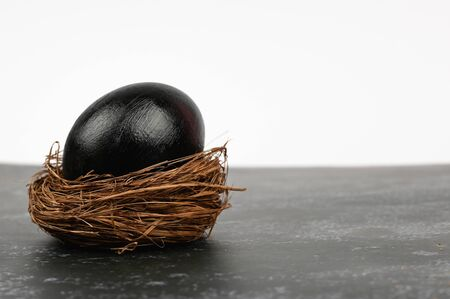 Dark easter. Black easter concept. Black eggs. Easter for black people