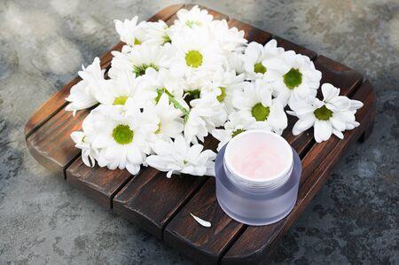 Natural cosmetic. The concept of natural medicine. Eco medicine 版權商用圖片