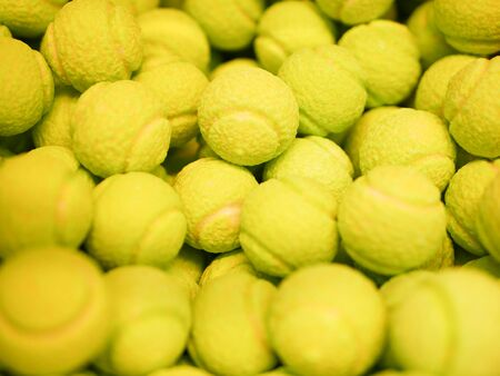Sweets in the form of tennis balls. Multi-colored sweets. close-up. Children's sweets. The cause of childhood caries Banque d'images