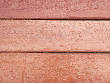 Varnished wooden horizontal wall close-up. Background of wood. Background texture