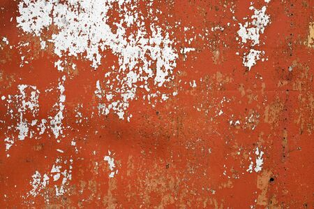 brown metal background. poured paint. metal texture can be used as background. Stockfoto
