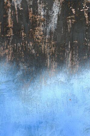 Painted metal in dark and blue.