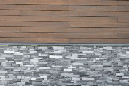 wood-tiled background. facade in the house.