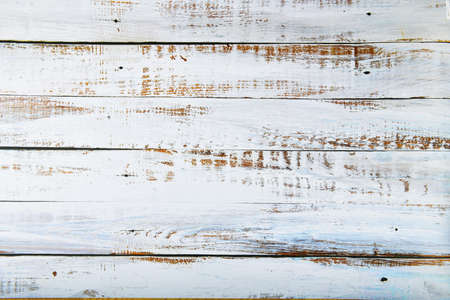Old white boards for background. white rustic wood plank texture background. top view