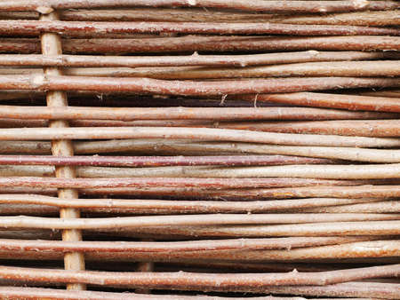 Background of woven tree branches close-up. Reklamní fotografie - 151237618