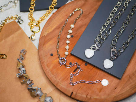 jewelry made of gold and silver. Valentines Day. A valuable gift from your beloved on Valentines Day. valuable jewelry. Purchases of precious metals