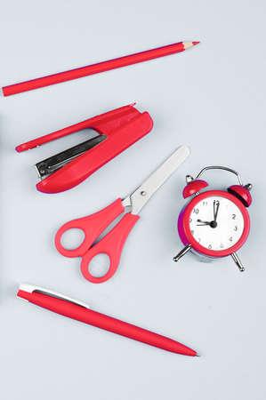 red office on a gray background Reklamní fotografie - 151447360