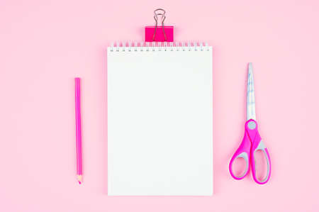 pink stationery on a pink background
