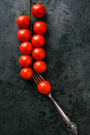 arrangement of tomatoes on a flat surface Reklamní fotografie - 153076381