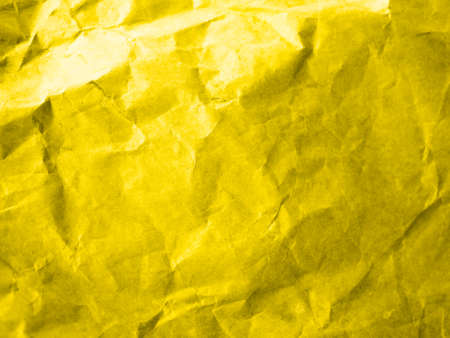 yellow crumpled paper close-up. presentation of fashion colors 2021. High quality photo