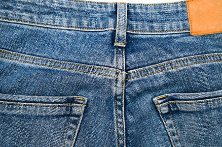 Back view of jeans, close up. High quality photo Archivio Fotografico