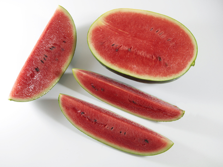dissection: dissection watermelon on white background Stock Photo
