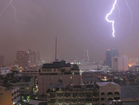 bangkok night: Bangkok night lightning