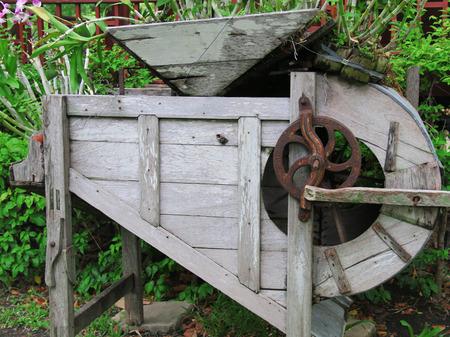 machine made: old Machine made of wood