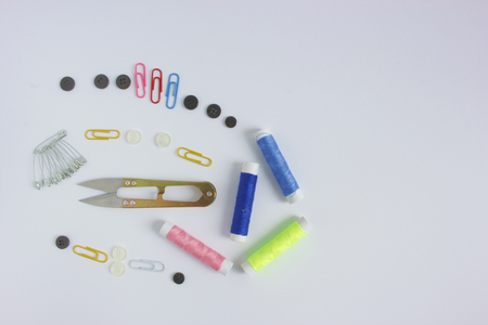 sewing kit on a white background.