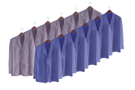 blazer: men suit isolated on white.