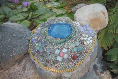 Colorful mosaic background Stock Photo