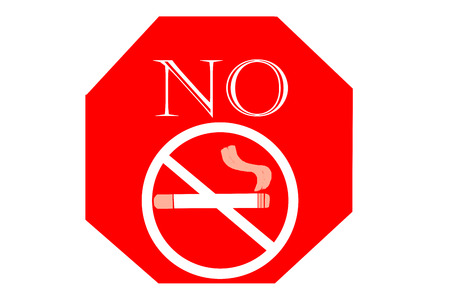 No smoking sign on white background, May - 31 World No Tobacco Day.