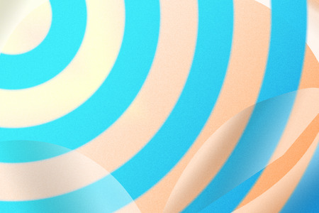 blue abstract circles with drop shadow background. Stock Photo