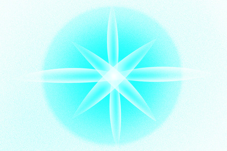 abstract background with sea star. flower light
