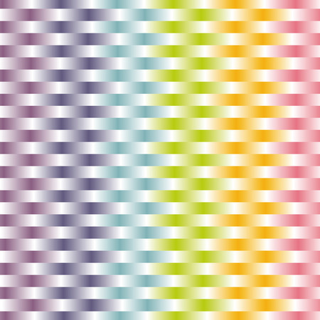 woven background in pastel rainbow color pattern Vector