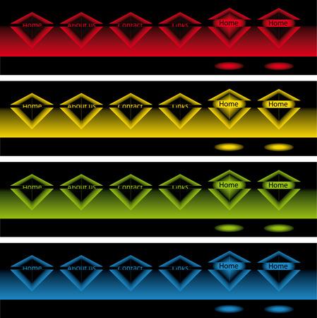 pop up: banners van gloeiende diamant pop-up knoppen in het donker voor web gebruiken