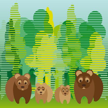 familia parque: lindo llevar la familia caminando en el bosque
