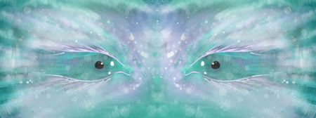 fantasy eyes looks like they are in space pastel colors
