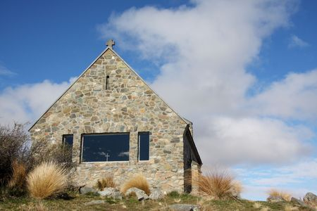Church of the Good Shepherd at Lake Tekapo New Zealand photo