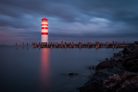 Lighthouse at Lake Neusiedl, Austria photo