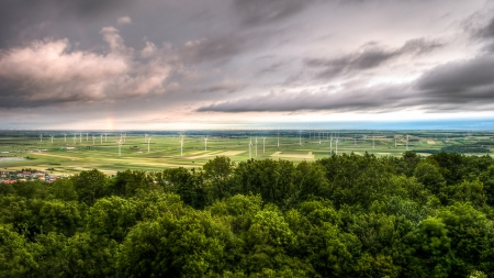 Landscape with Windmills in Austria near Berg photo