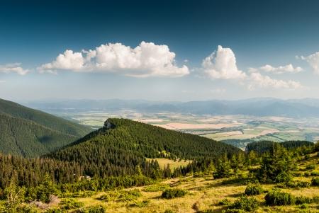 mnich: Landscape, View Towards Low Tatra With Peak Mnich