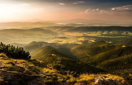 liptov: landscape, view from Sivy vrch towards Orava