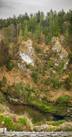 morava: The Macocha Abyss, also known as the Macocha Gorge, is a sinkhole in the Moravian Karst cave system of the Czech Republic located north of the city of Brno, near the town of Blansko