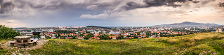 Panorama of the City of Nitra as Seen from Calvary at Sunset photo