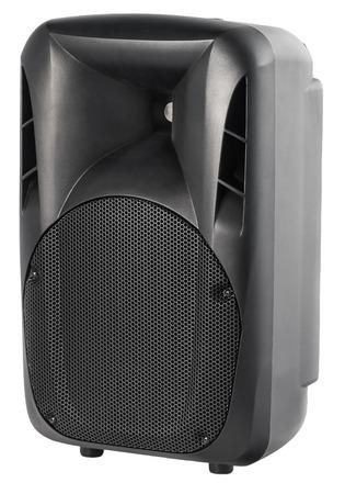 speaker: Black Audio Speaker Isolated on White Background