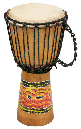 djembe drum: African Djembe Drum Isolated Over White Background