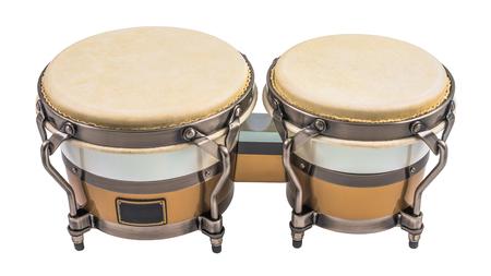 bongo: Set of Bongo Drums Isolated on a White Background. Latin percussion.