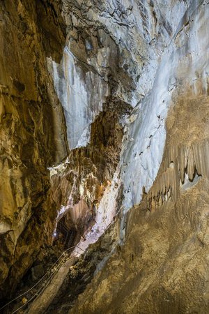 cave exploring: Details within Harmanec Cave in Kremnica Mountains, Slovakia