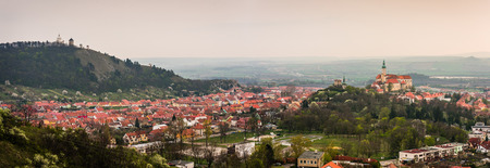 Panoramic View of  Town of Mikulov, Czech Republic