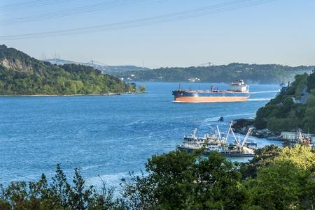 Istanbul, Turkey, 09 May 2015: Rumeli Kavagi 免版税图像