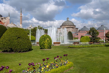 Istanbul, Turkey, 3 May 2006: The Hagia Sophia and Sultanahmet Square